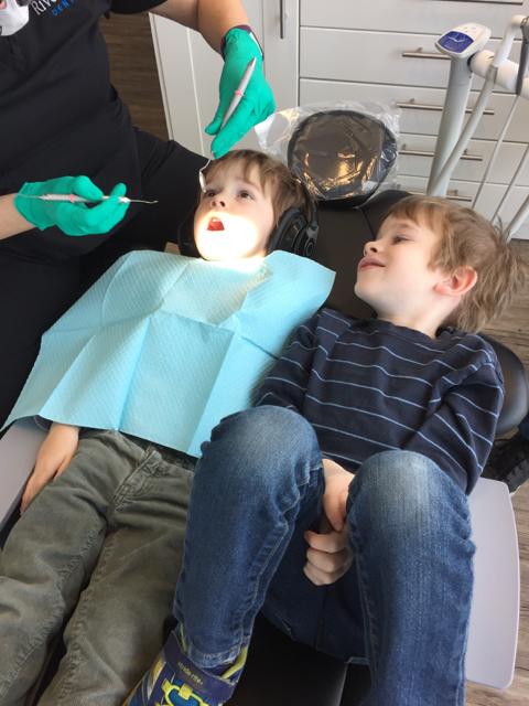 Kids in Dental Chair at River Park Dental