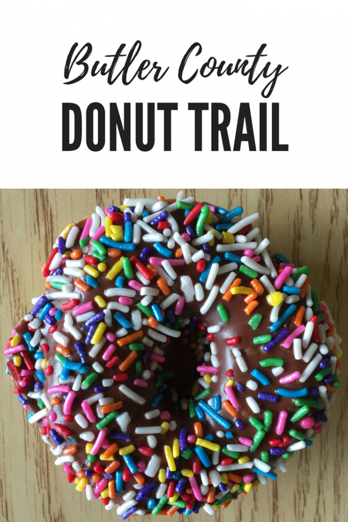 sprinkled donut on the Butler County Donut Trail