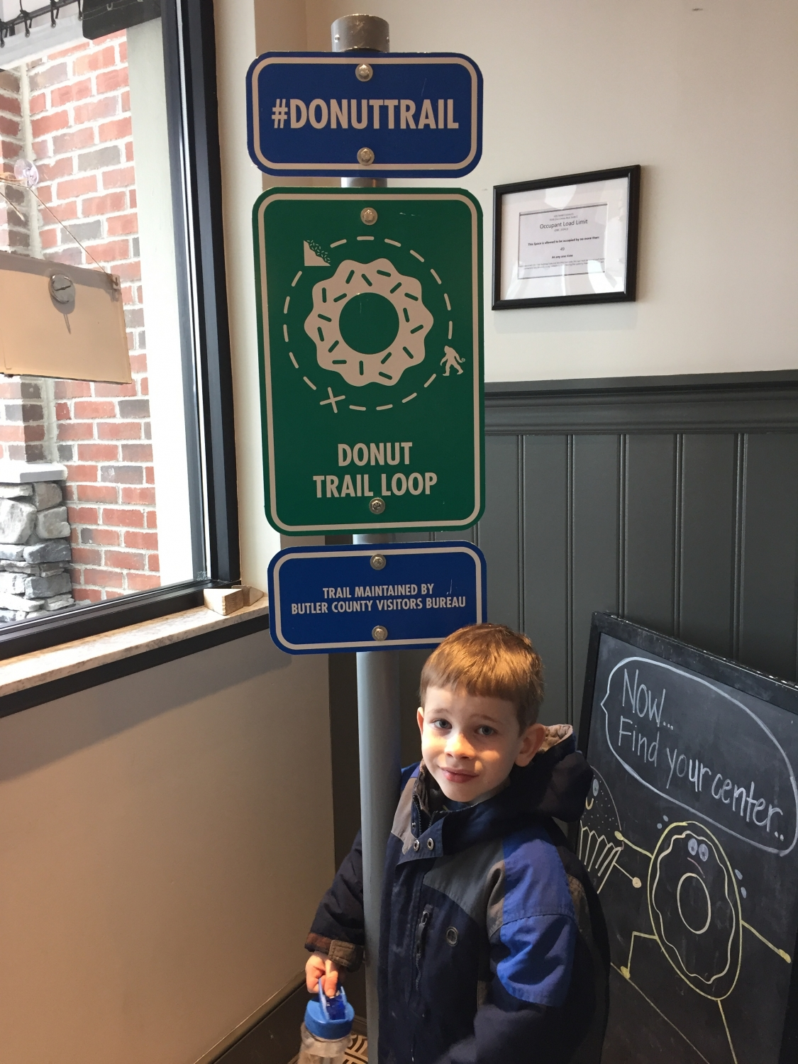 donut trail sign