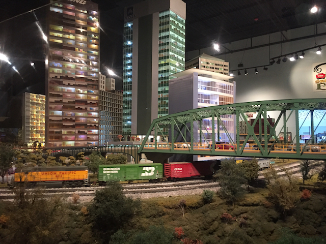 model train at EnterTRAINment Junction