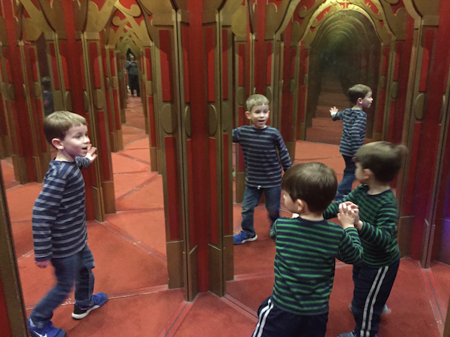 hall of mirrors at EnterTRAINment Junction
