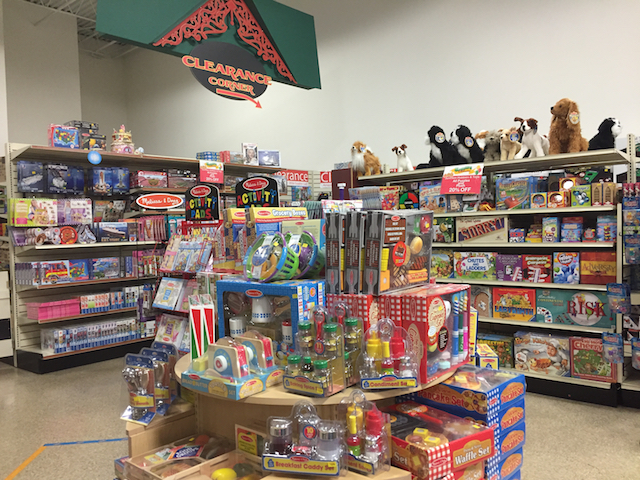 Toy store at EnterTRAINment Junction