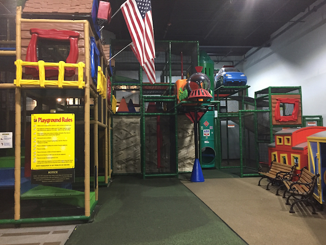 Indoor play area at EnterTRAINment Junction