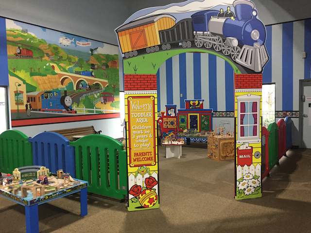 Toddler play area at EnterTRAINment Junction.