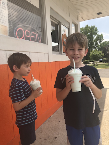 boys drinking milkshakes at Double Happy, Columbus, Ohio