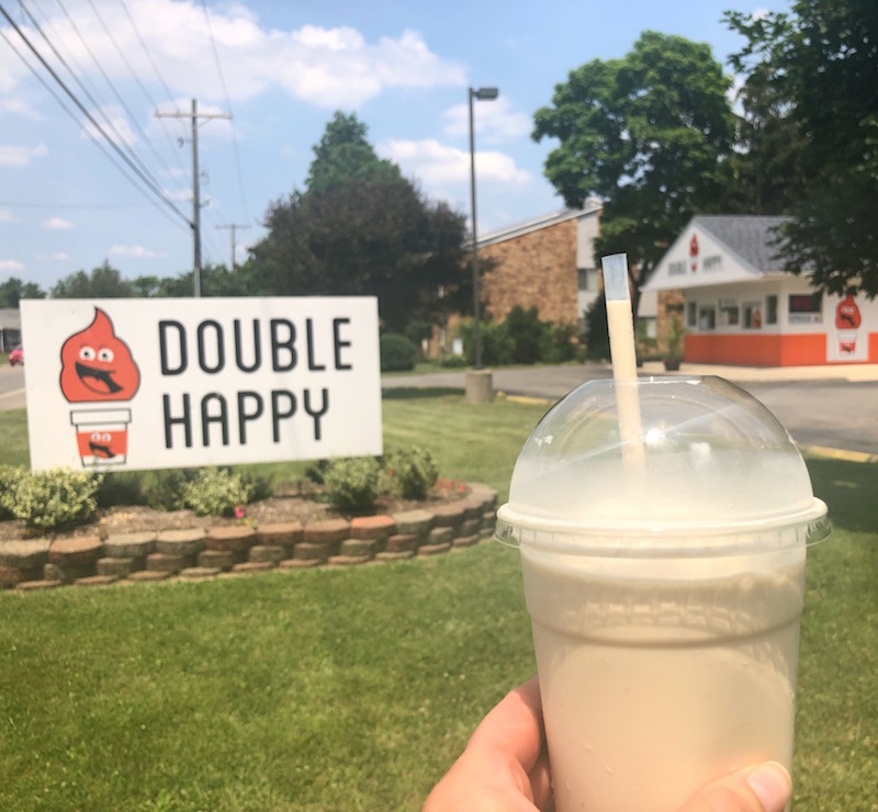 milkshake at double happy, columbus, ohio