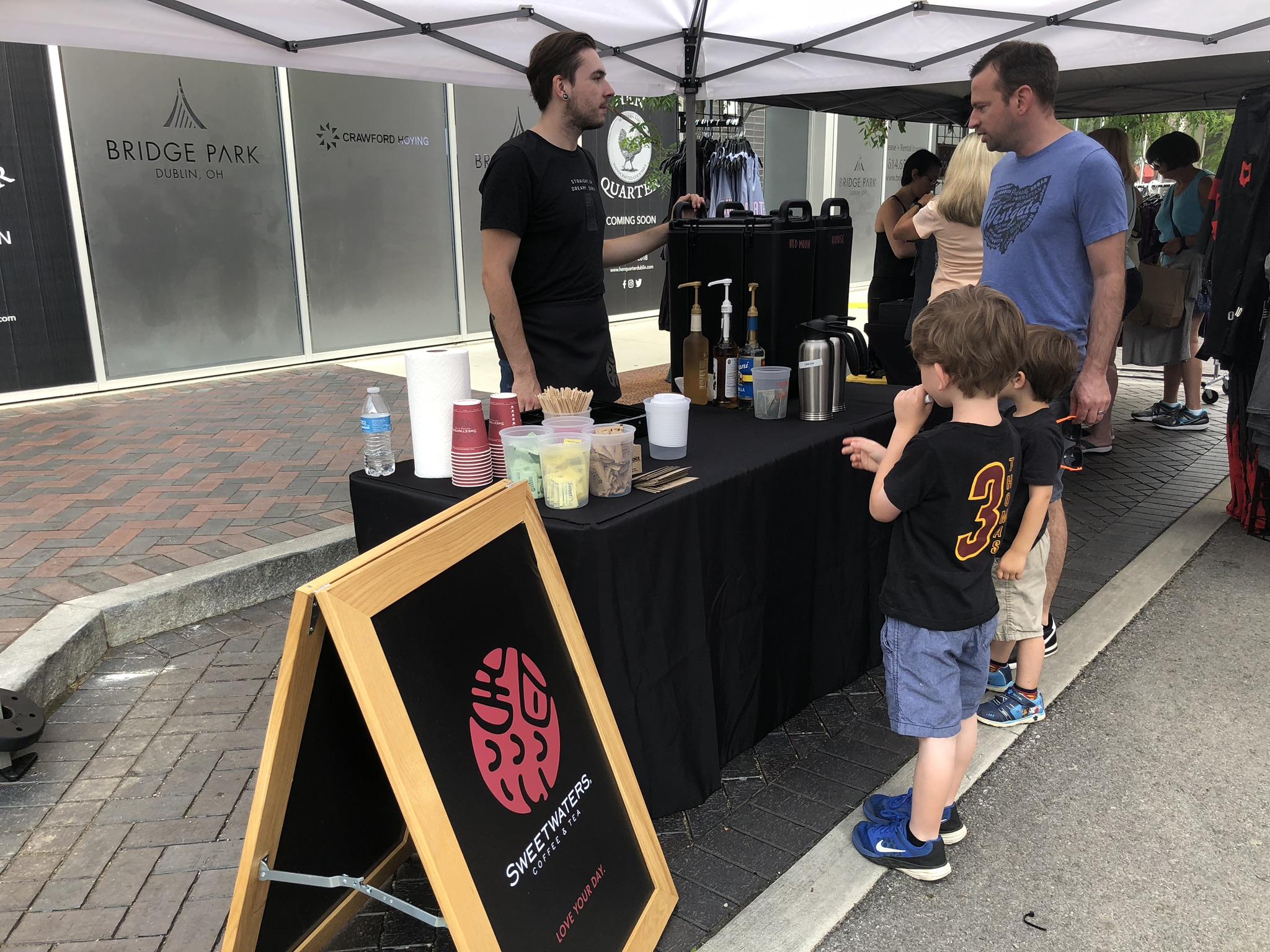 coffee shop in the bridge street district
