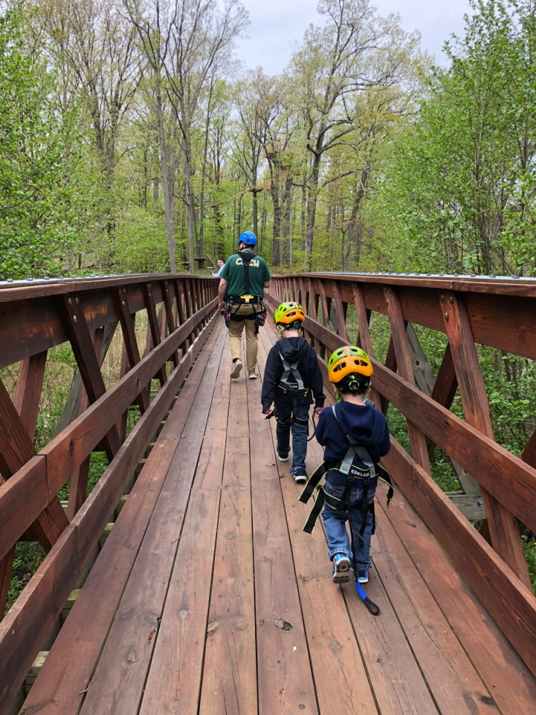 Kids at Lake Erie Canopy Tours