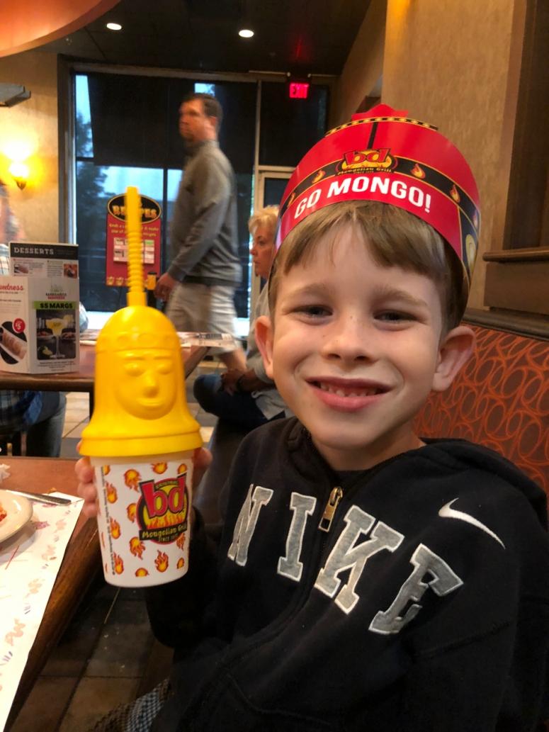 boy at bd's Mongolian Grill, Columbus, Ohio