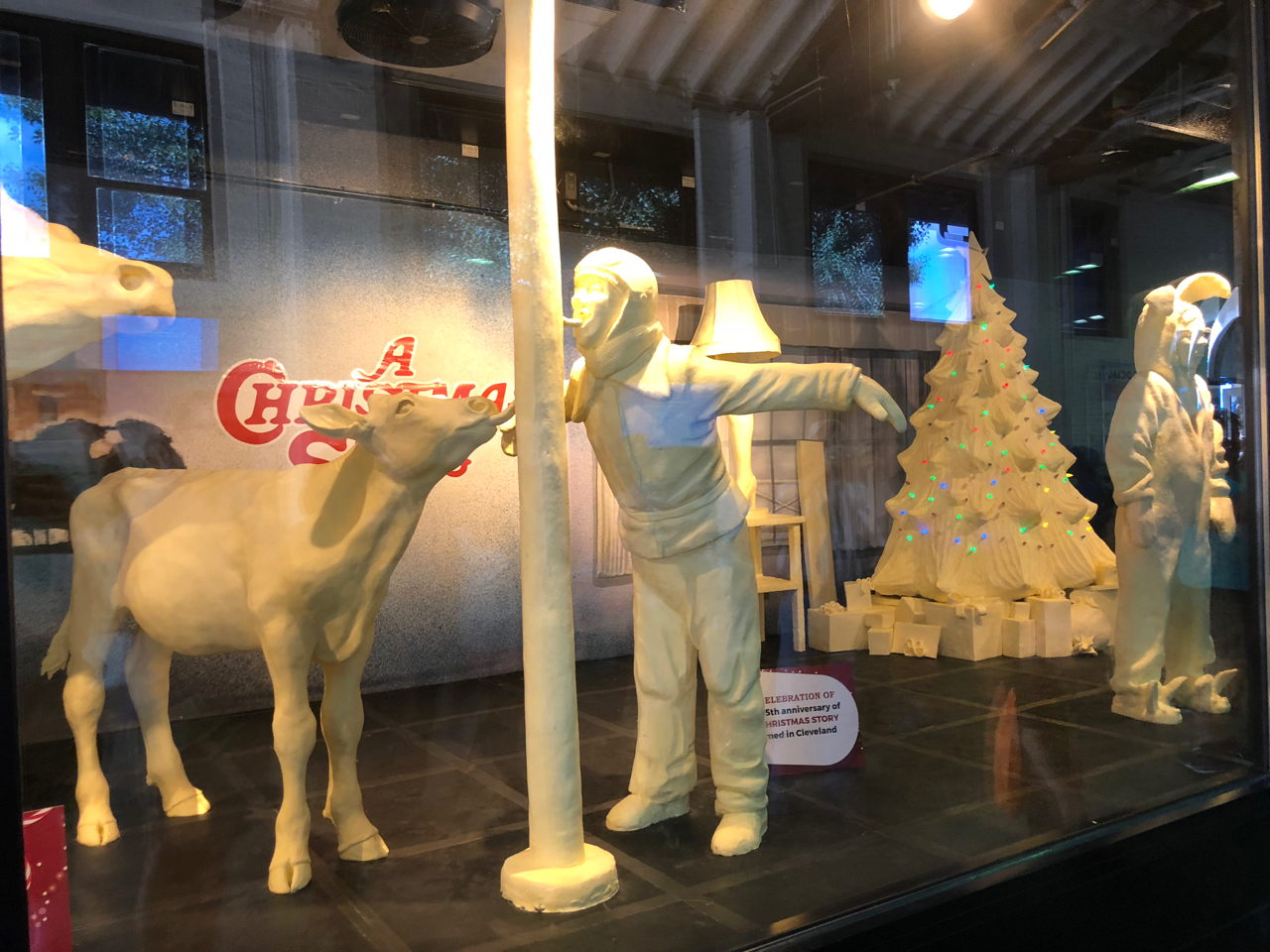 Butter Cow at Ohio State Fair