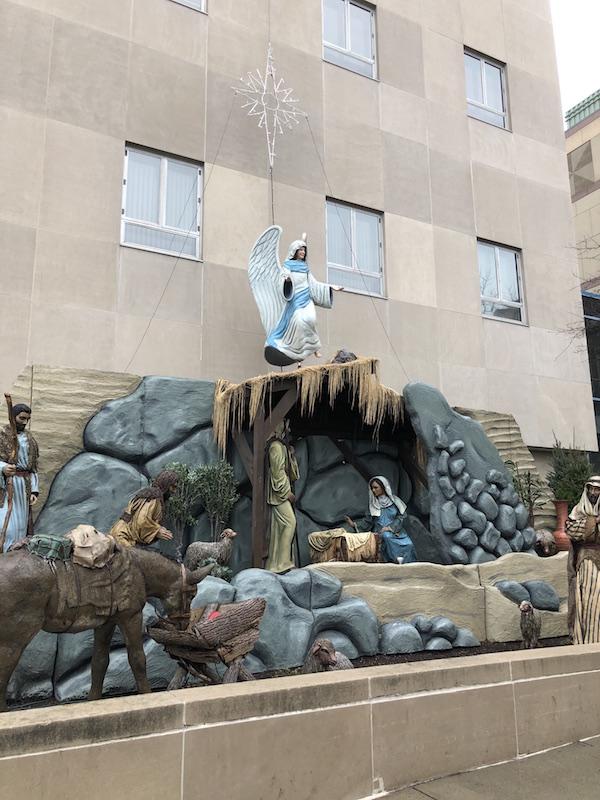 State Auto Christmas Corner Nativity Display, Downtown Columbus, Ohio