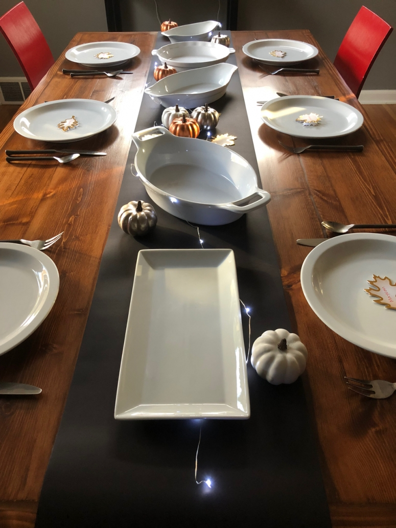 Table Set for Thanksgiving Meal