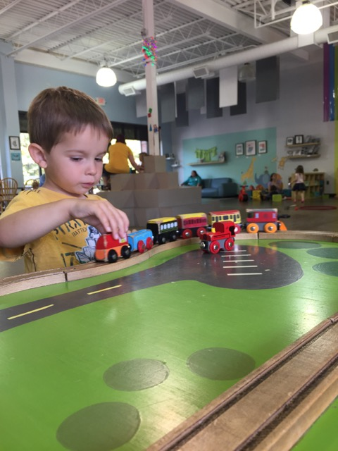 boy at Firefly Play Cafe in Columbus, Ohio