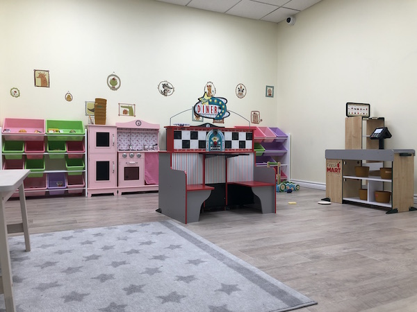 play area at Momi Land Play Cafe in Columbus, Ohio