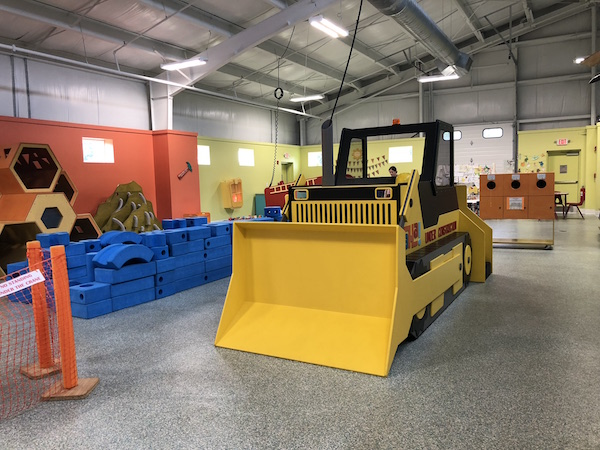 bulldozer at AH-A Children's Museum in Lancaster, Ohio