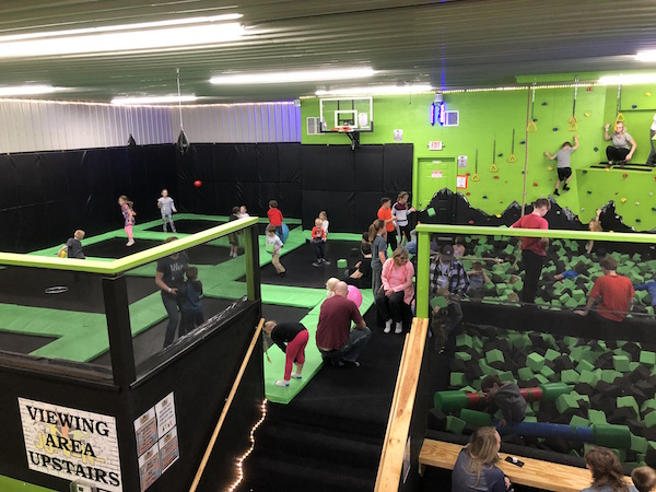 kids playing at Jump N Trampoline Center in Lancaster Ohio
