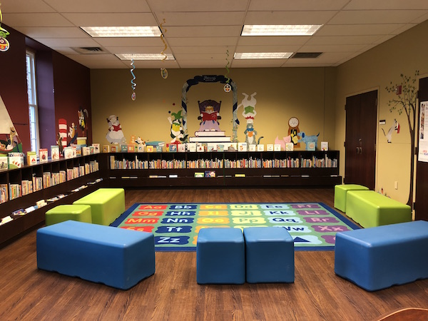 children's department at Fairfield County District library in Lancaster, Ohio