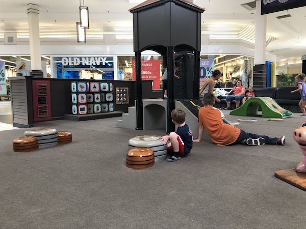 kids in play area at River Valley Mall in Lancaster, Ohio