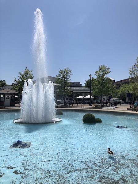 fountain at Easton Town Center, Columbus, Ohio