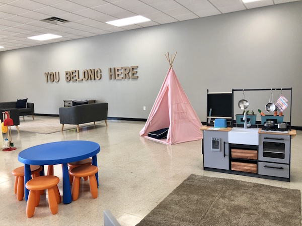 toddler play area at Pickaway Place