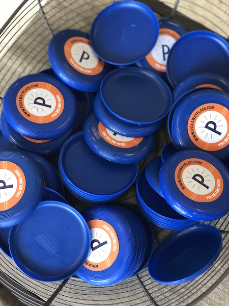 frisbees at Pickaway Place