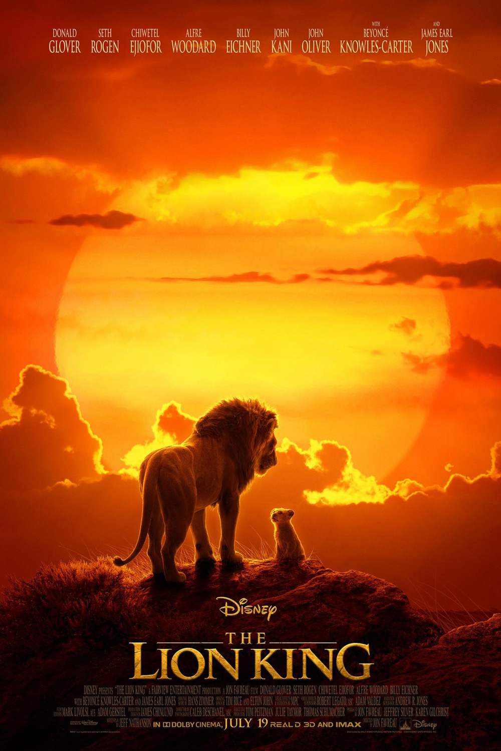 The Lion King movie shown at Marcus Theatres Columbus Ohio