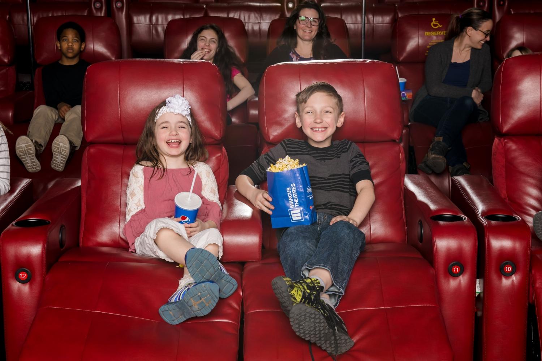 two children at Marcus Theatres Columbus Ohio