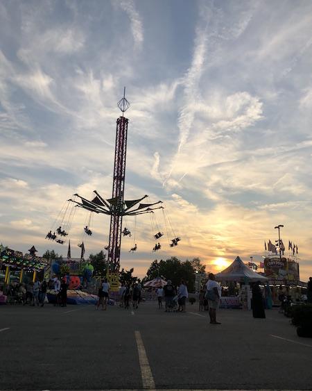 ride at night at the Ohio State Fair, Columbus, Ohio