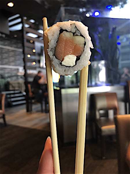 chopsticks and sushi at Kona Grill at Easton Town Center