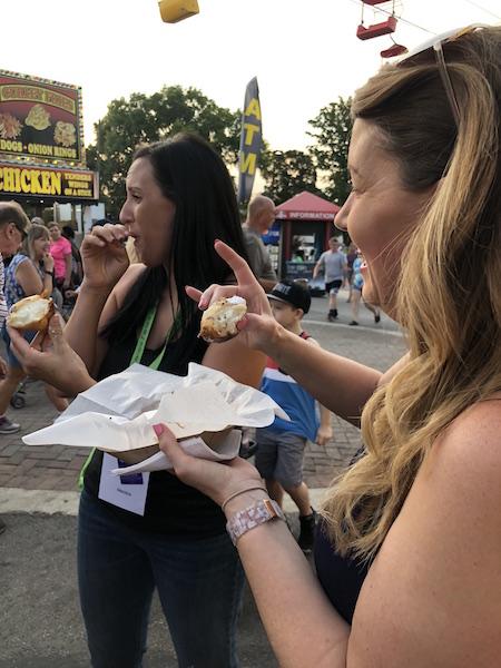 deep fried Larvetes at the Ohio State Fair, Columbus, Ohio
