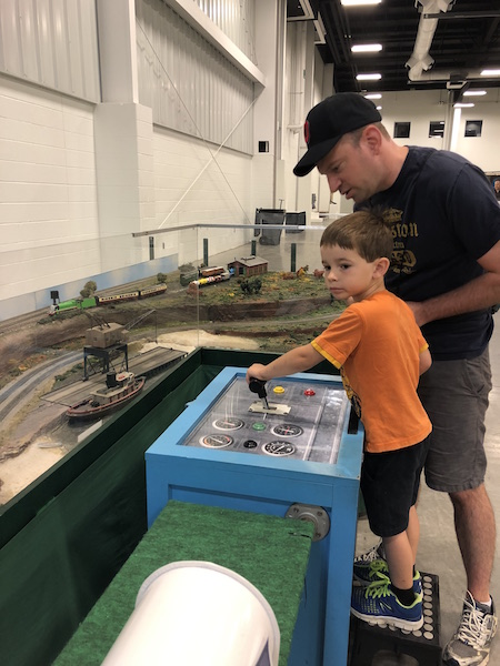 model trains at the Ohio State Fair, Columbus, Ohio