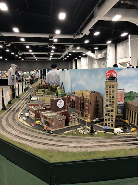 model train display at the Ohio State Fair, Columbus, Ohio