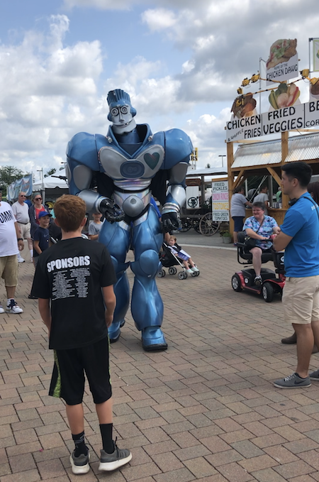 walking robot at the Ohio State Fair, Columbus, Ohio