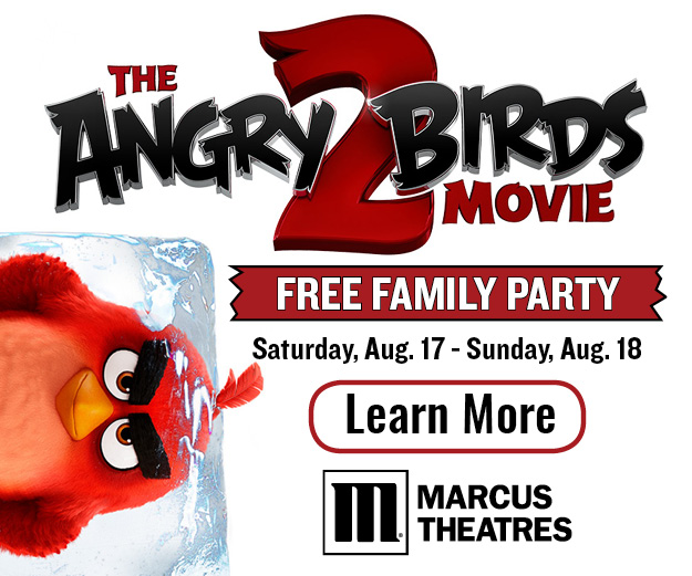 angry birds 2 at Marcus Theatres