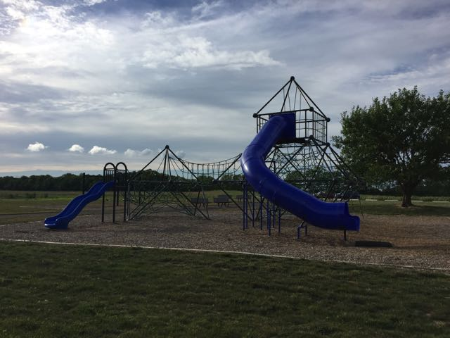 Playground area at Scioto Grove Metro Park in Grove City, Ohio