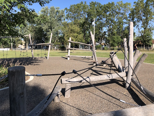 climbing area at Towers Park, Westerville Ohio
