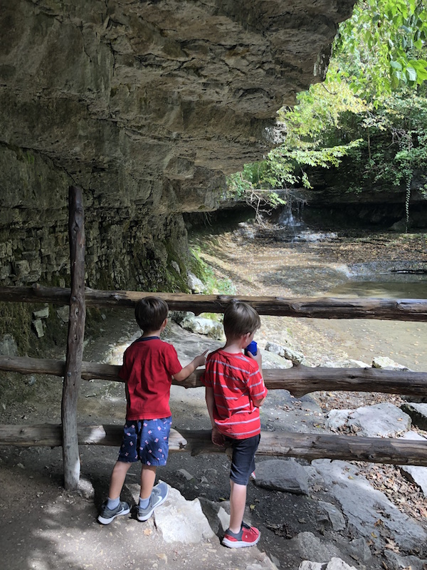 Boys at The Cascades at Glen Helen Nature Preserve, Yellow Springs