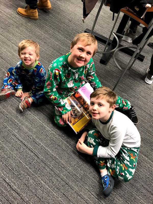 Boys at Pickerington Library, Columbus Ohio