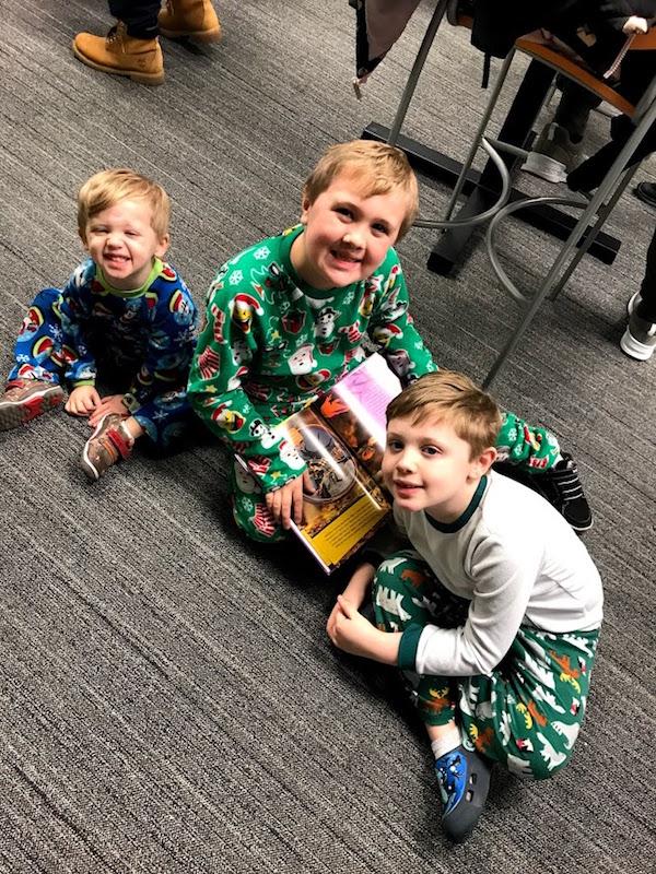 Boys at Pickerington Library, Columbus Ohio