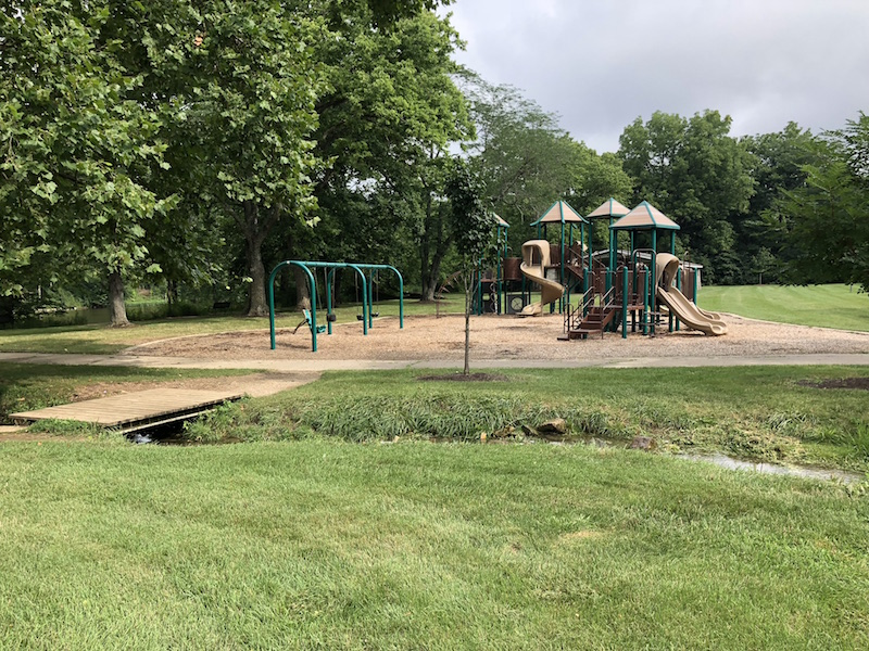 Playground at Scioto Park in Dublin, Ohio