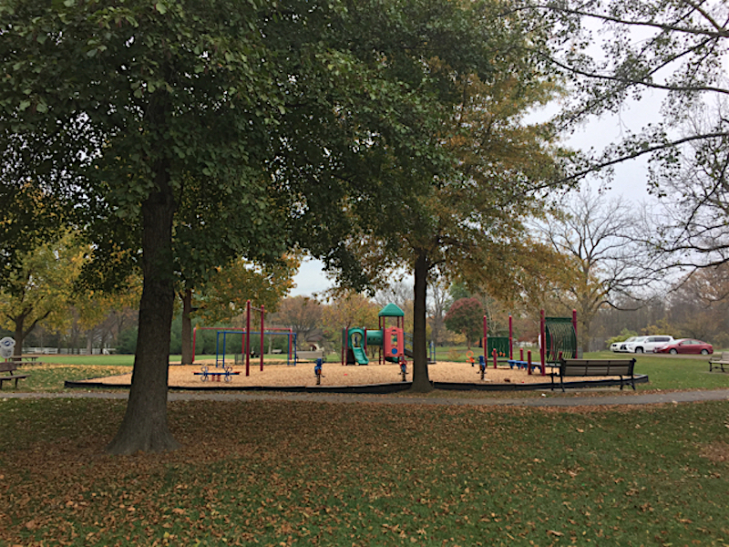 Thompson Park playground in Upper Arlington, Ohio