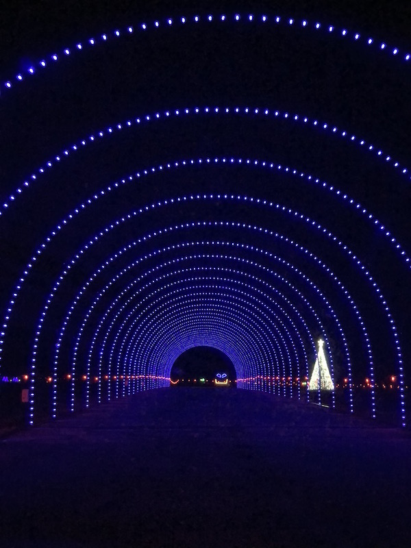 tunnel to drive through at WonderLight's Christmas in Ohio
