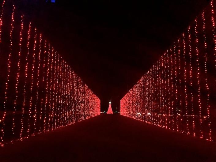 drive through light display in Hebron, Ohio