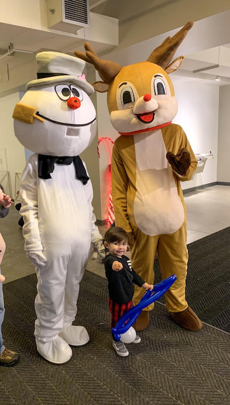 Costumed characters at the Lazarus Building in Columbus, Ohio