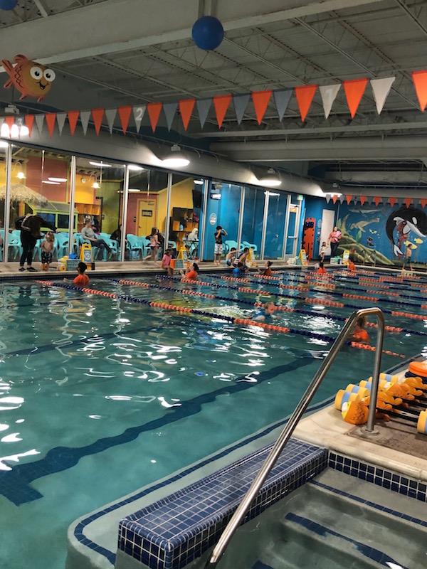 swimming pool at Goldfish Swim School Dublin, Ohio