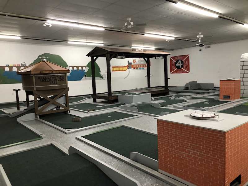 trained theme mini golf at Putt and Play in Bellefontaine, Ohio