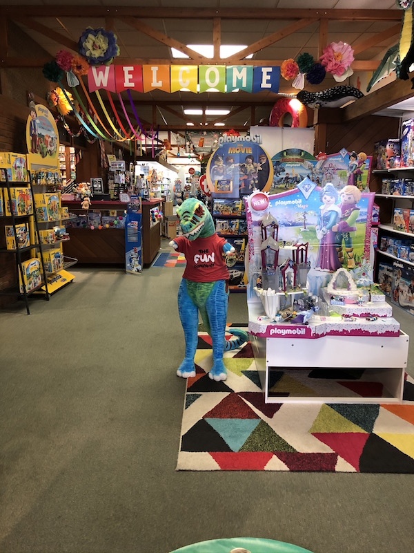 Inside The Fun Company toy store in Bellefontaine, Ohio