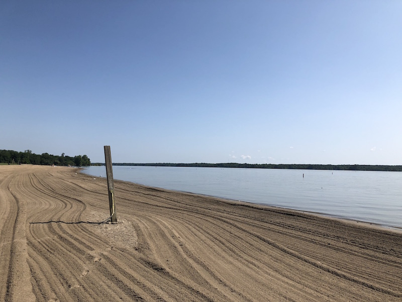 Alum Creek Park Beach shoreline