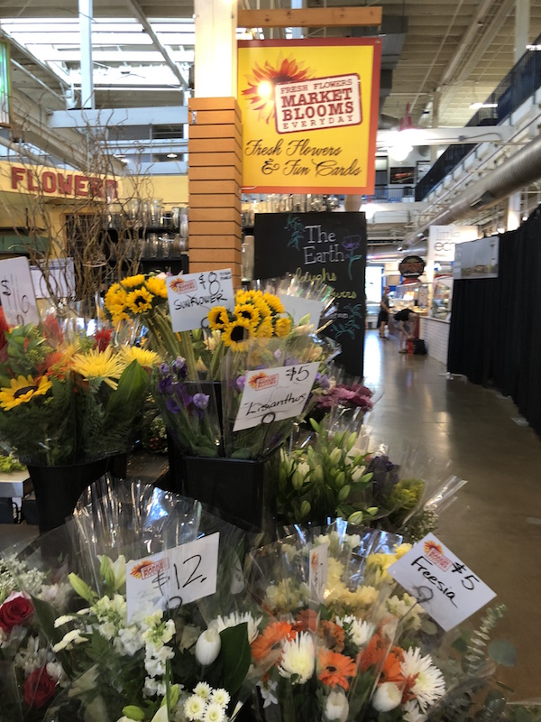 flowers at North Market