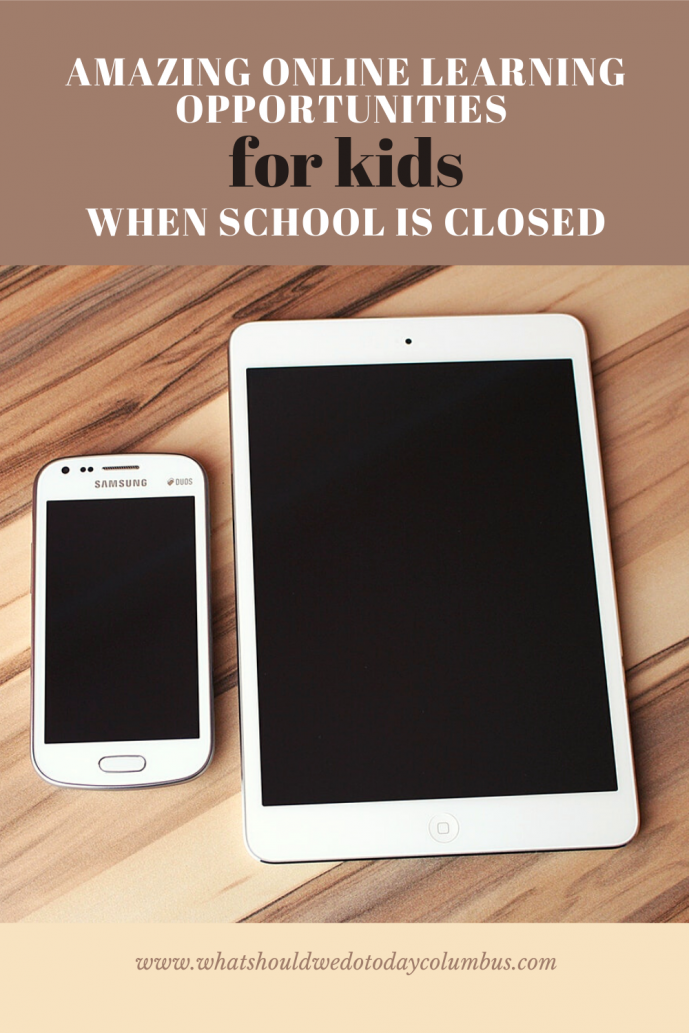 online activities for kids when school is closed